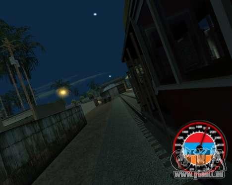 Le compteur de vitesse dans le style du drapeau  pour GTA San Andreas sixième écran
