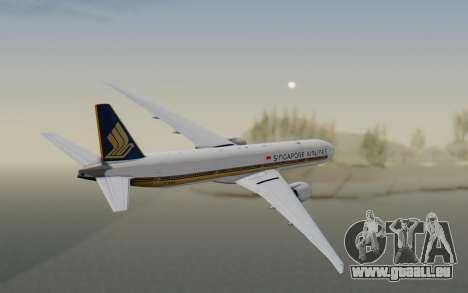 Boeing 777-300ER Singapore Airlines v1 für GTA San Andreas rechten Ansicht