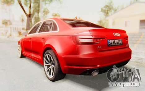 Audi A4 2017 IVF für GTA San Andreas linke Ansicht