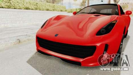 GTA 5 Grotti Bestia GTS v2 IVF für GTA San Andreas obere Ansicht