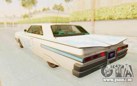 GTA 5 Declasse Voodoo Alternative v1 pour GTA San Andreas roue