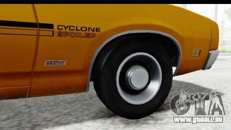 Mercury Cyclone Spoiler 1970 IVF pour GTA San Andreas vue arrière