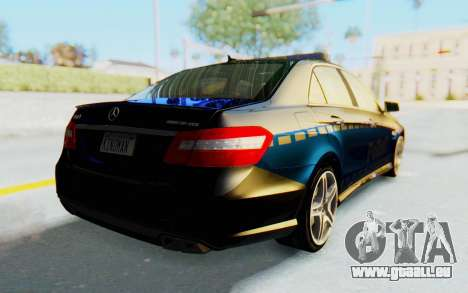 Mercedes-Benz E63 German Police Blue für GTA San Andreas zurück linke Ansicht