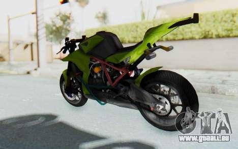 KTM 1190 R Stunter für GTA San Andreas zurück linke Ansicht