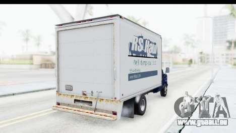 Ford E-350 Cube Truck IVF pour GTA San Andreas vue de droite
