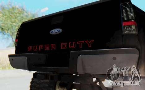 Ford Super Duty Off-Road pour GTA San Andreas vue arrière