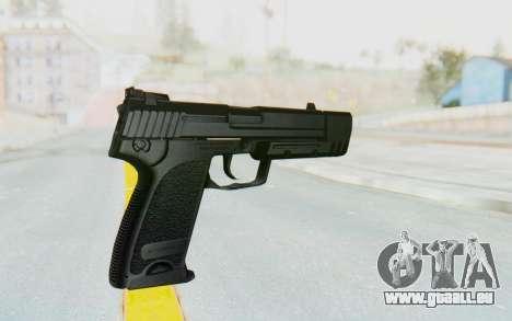 HK USP 45 Black pour GTA San Andreas troisième écran