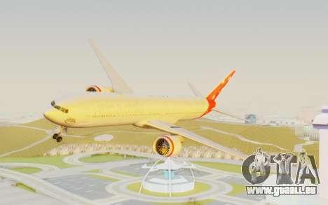 Boeing 777-300ER Virgin Australia v1 HD pour GTA San Andreas sur la vue arrière gauche