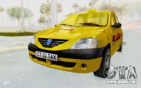 Dacia Logan Taxi für GTA San Andreas rechten Ansicht