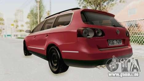 Volkswagen Passat B6 Variant pour GTA San Andreas laissé vue