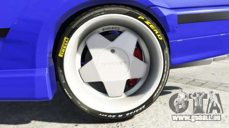 GTA 5 BMW M3 (E36) Street Custom [blue dials] v1.1 arrière droit vue de côté