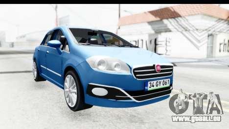 Fiat Linea 2014 Wheels pour GTA San Andreas sur la vue arrière gauche