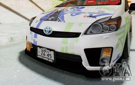 Toyota Prius Hybrid 2011 Hellaflush IF Itasha pour GTA San Andreas vue de côté