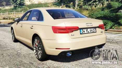 GTA 5 Audi A4 2017 hinten links Seitenansicht