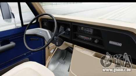 Ford E-350 Cube Truck IVF pour GTA San Andreas vue intérieure