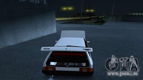 VAZ 2108 Haltung für GTA San Andreas zurück linke Ansicht