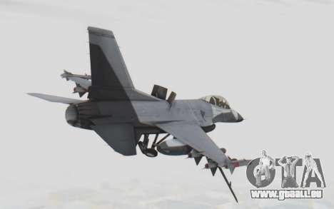 F-16 with Russian Missile für GTA San Andreas rechten Ansicht