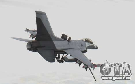F-16 with Russian Missile pour GTA San Andreas vue de droite