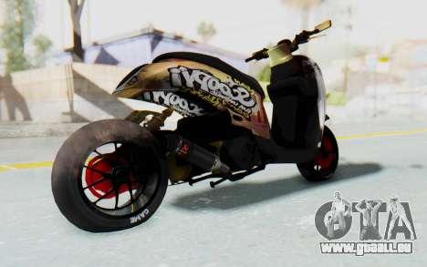 Honda Scoopyi Modified für GTA San Andreas rechten Ansicht