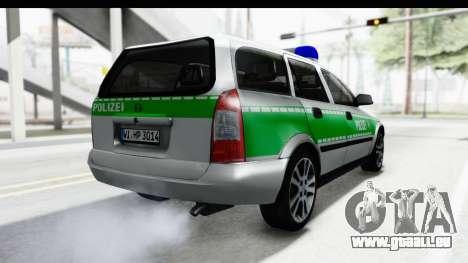 Opel Astra G Variant Polizei Bayern pour GTA San Andreas vue de droite