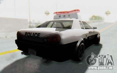 Elegy Japanese Police pour GTA San Andreas vue de droite