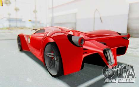 Ferrari F80 Concept 2015 Beta pour GTA San Andreas laissé vue