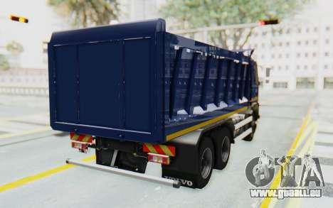 Volvo FMX 6x4 Dumper v1.0 Color pour GTA San Andreas sur la vue arrière gauche