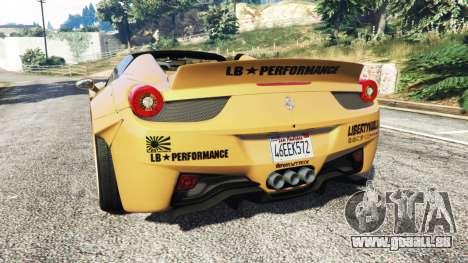 GTA 5 Ferrari 458 Spider [Liberty Walk] hinten links Seitenansicht
