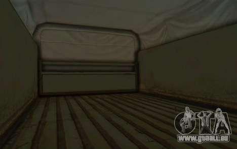 MGSV Phantom Pain BOAR 53CT Truck Roof für GTA San Andreas Rückansicht