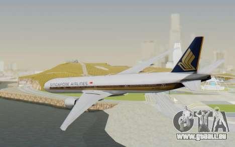 Boeing 777-300ER Singapore Airlines v1 für GTA San Andreas linke Ansicht