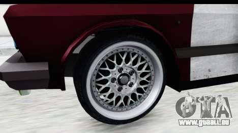 Zastava Yugo Koral Rat Style pour GTA San Andreas vue arrière