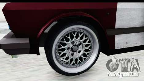 Zastava Yugo Koral Rat Style für GTA San Andreas Rückansicht