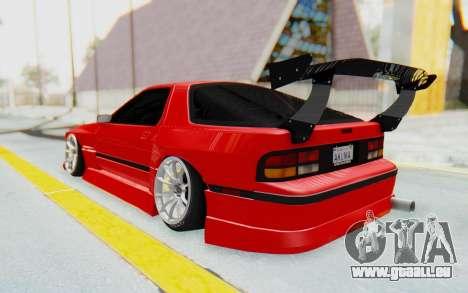 Mazda RX-7 FC3S BN Sport pour GTA San Andreas laissé vue