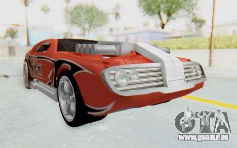 Hot Wheels AcceleRacers 2 für GTA San Andreas rechten Ansicht