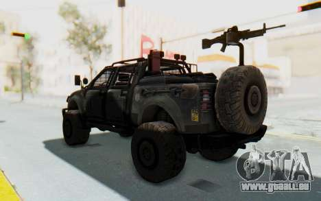 Toyota Hilux Technical pour GTA San Andreas sur la vue arrière gauche