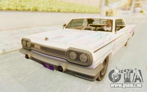 GTA 5 Declasse Voodoo Alternative v1 für GTA San Andreas Seitenansicht