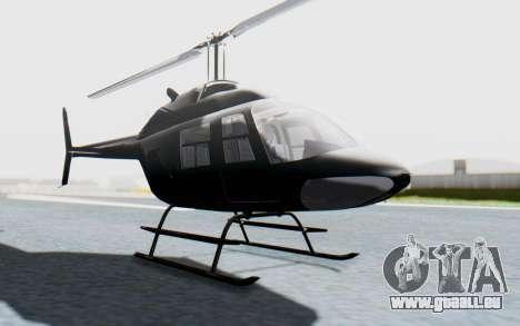 Bell 206B-III Jet Ranger Policja für GTA San Andreas rechten Ansicht
