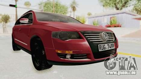Volkswagen Passat B6 Variant für GTA San Andreas rechten Ansicht