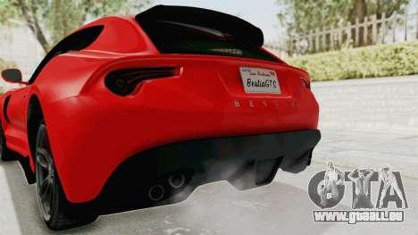GTA 5 Grotti Bestia GTS v2 IVF für GTA San Andreas Unteransicht