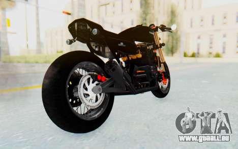 Kawasaki Z1000 Moghe Cafe Racer pour GTA San Andreas laissé vue