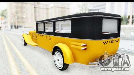 Unique V16 Fordor Taxi pour GTA San Andreas laissé vue