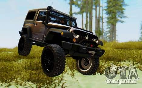 Jeep Wrangler Rubicon 2012 pour GTA San Andreas vue de droite