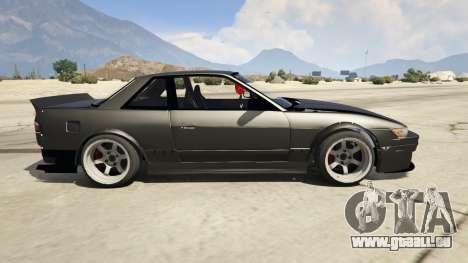GTA 5 Nissan Silvia S13 6666 Rocket Bunny 1.7 linke Seitenansicht
