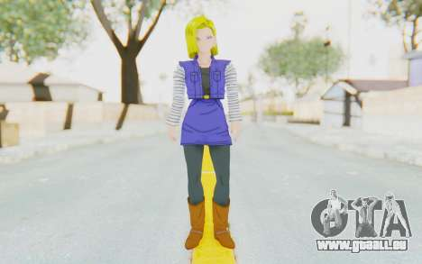 Dragon Ball Xenoverse Android 18 Jacket für GTA San Andreas zweiten Screenshot