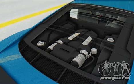 Audi R8 V10 2017 v2.0 pour GTA San Andreas vue arrière