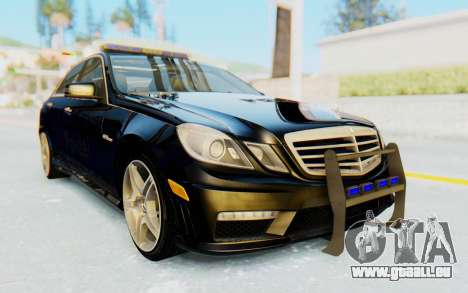 Mercedes-Benz E63 German Police Blue für GTA San Andreas rechten Ansicht