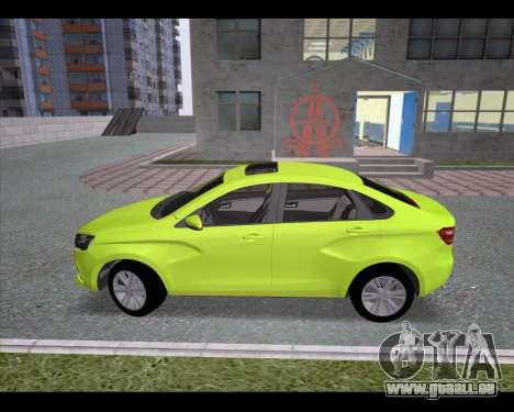 Lada Vesta pour GTA San Andreas laissé vue