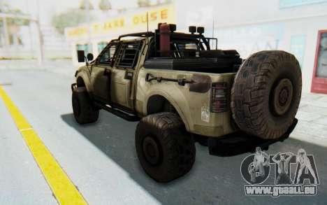 Toyota Hilux Technical Desert pour GTA San Andreas laissé vue