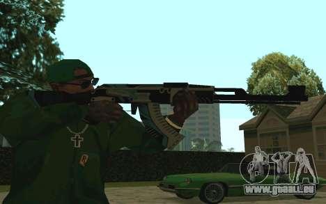 AK-47 Vulcan (SA) pour GTA San Andreas deuxième écran