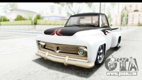 GTA 5 Vapid Slamvan without Hydro pour GTA San Andreas vue de dessus